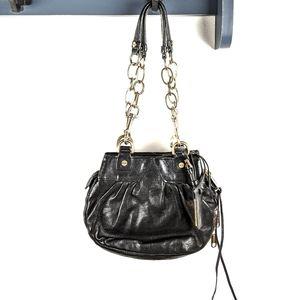 Alexis Hudson Black Leather Chain Mini Bag